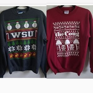 WSU COUGS holiday sweaters unisex